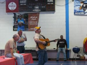 Mr. Dorsey laying down the Swamp Boy's song, in the cooks meeting at SOTW 2013.
