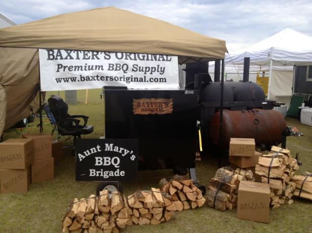 Aunt Mary's BBQ Brigade Competition set up.