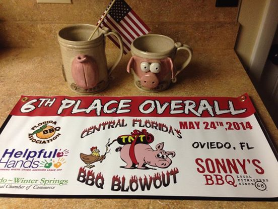 Some very unique trophies by  Crazy Jugs, great banners by Terry McKay, & first place trophies were original designed and made by Dale Wilson.